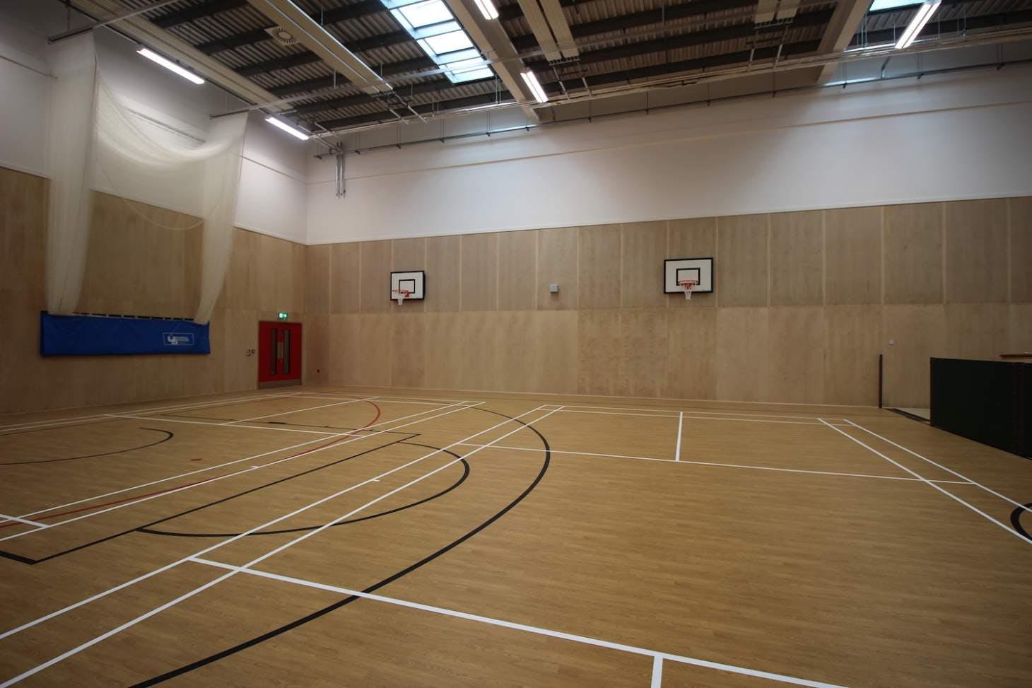 Ark Pioneer Academy Indoor netball court