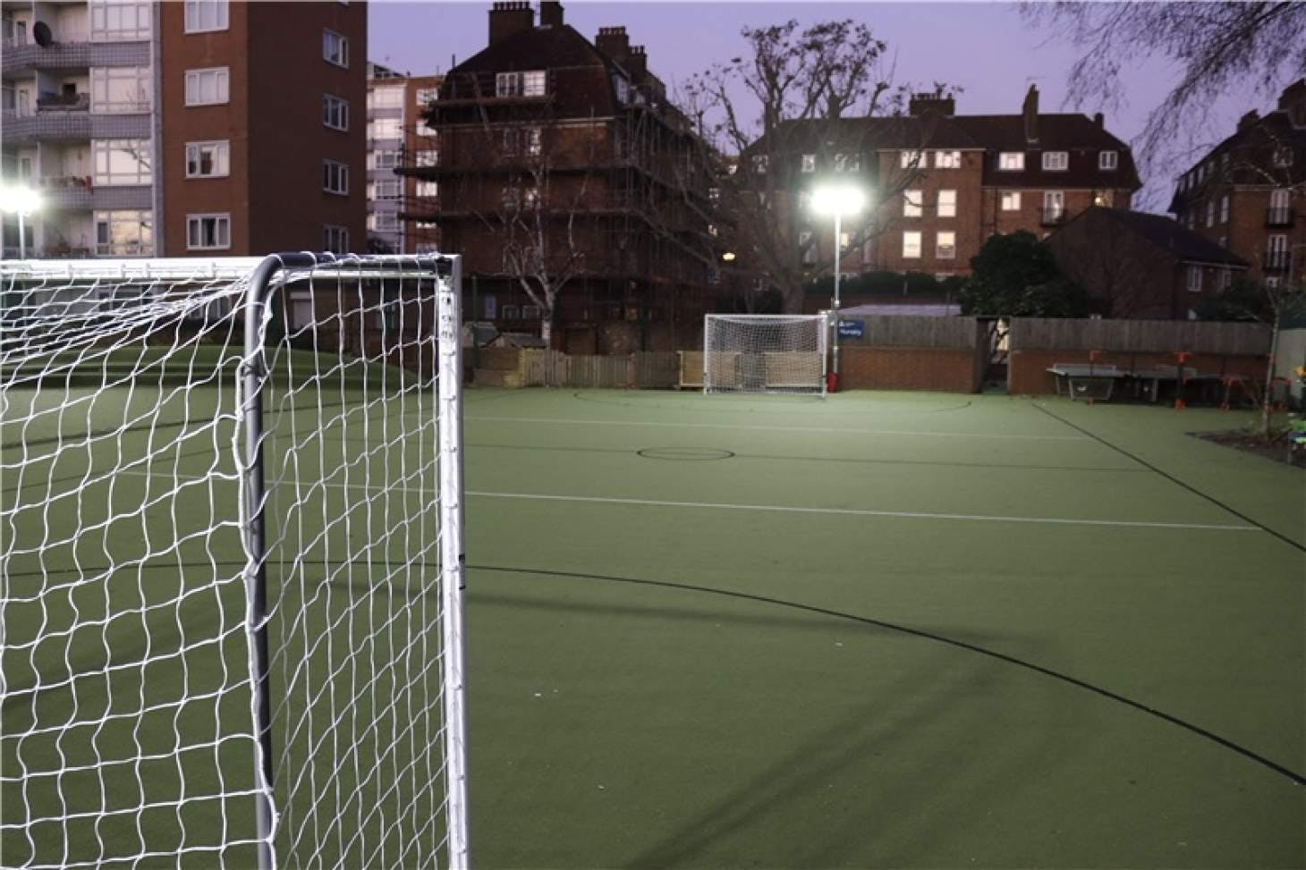 Ashburnham Community Primary School Outdoor | Astroturf netball court