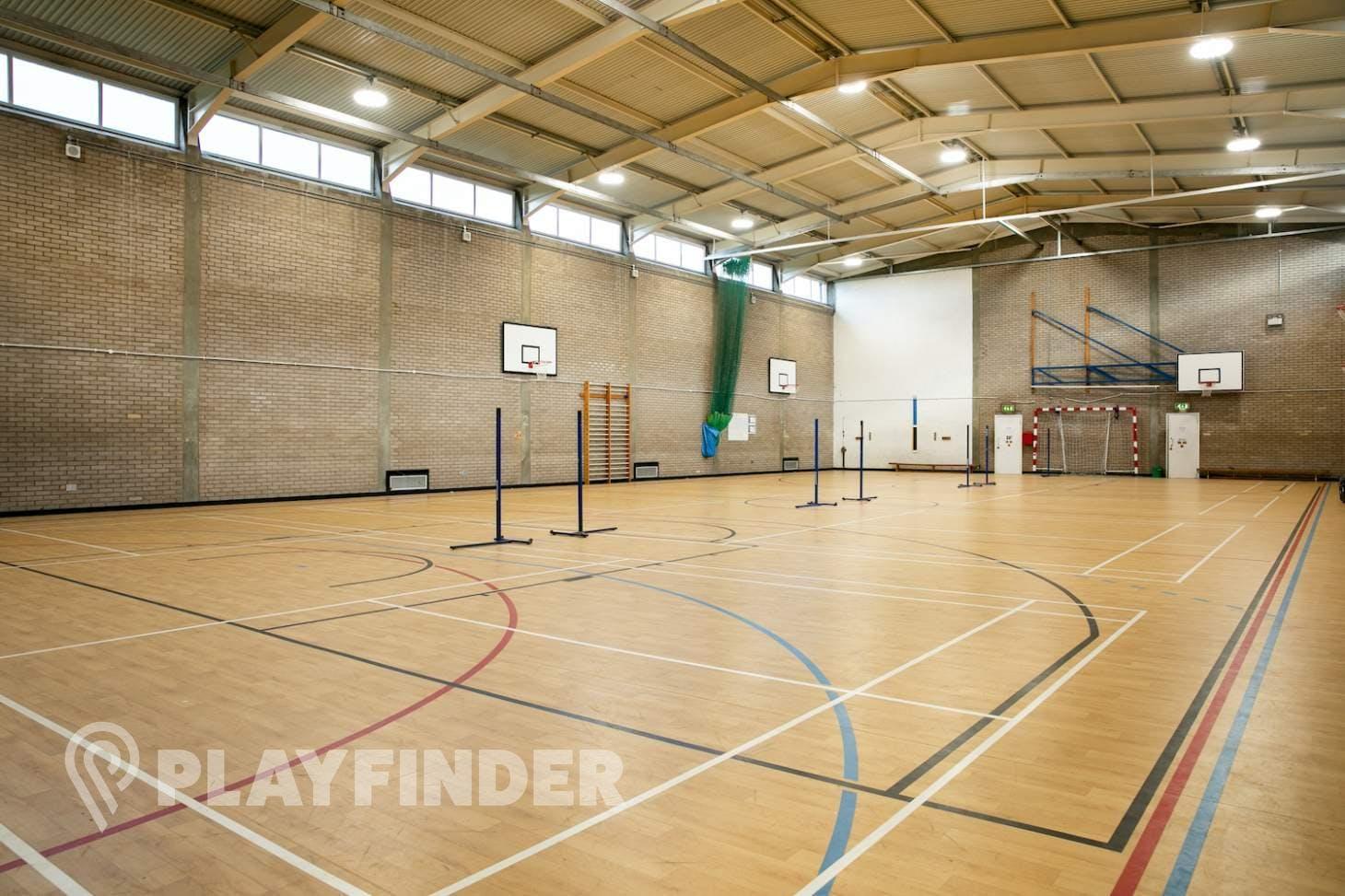 Bexleyheath Academy Court   Sports hall volleyball court