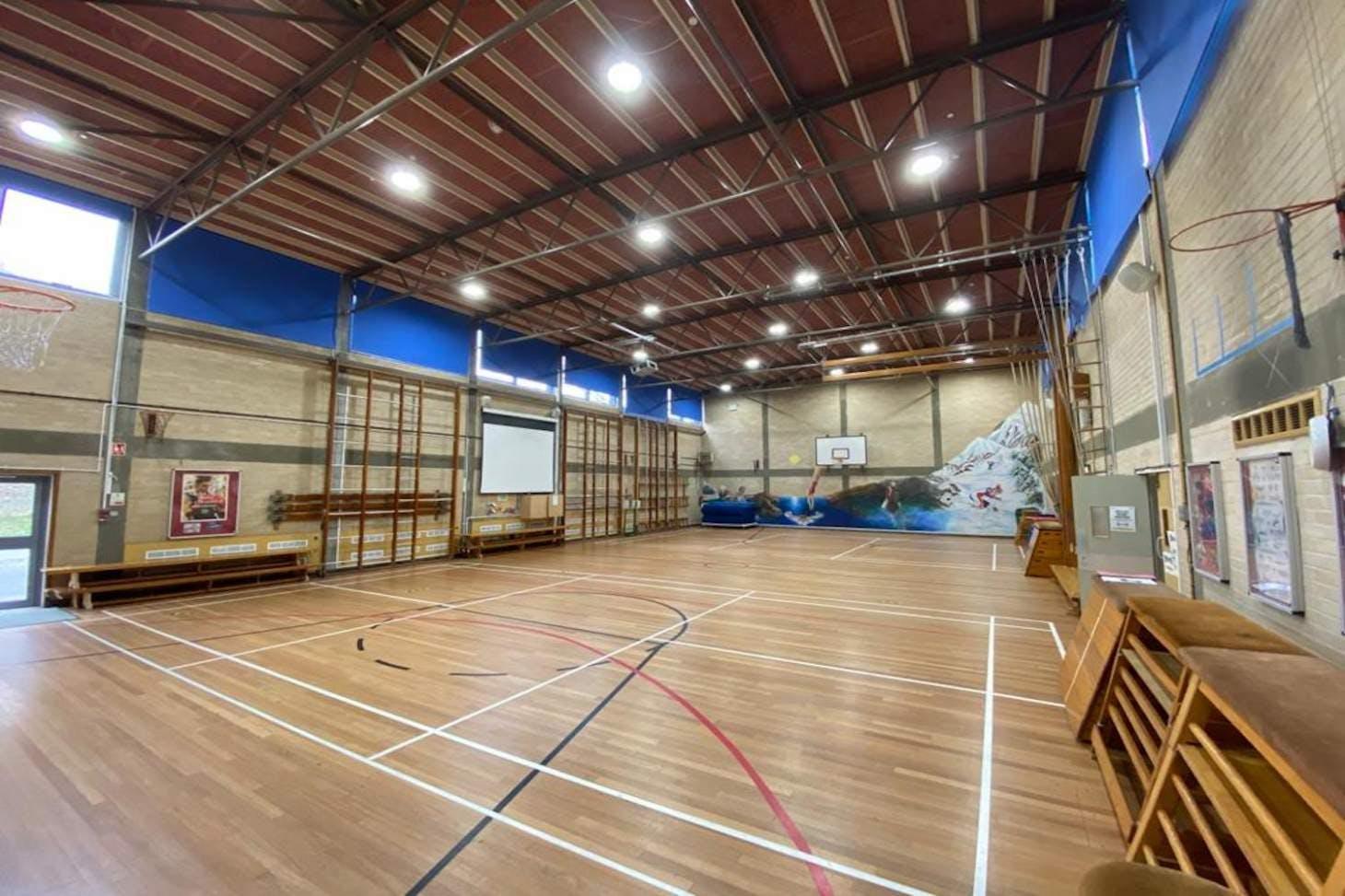 La Sainte Union School Court   Sports hall basketball court