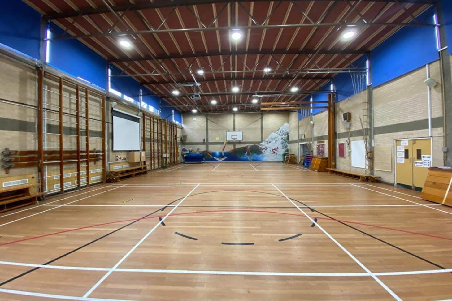 La Sainte Union School Indoor futsal pitch