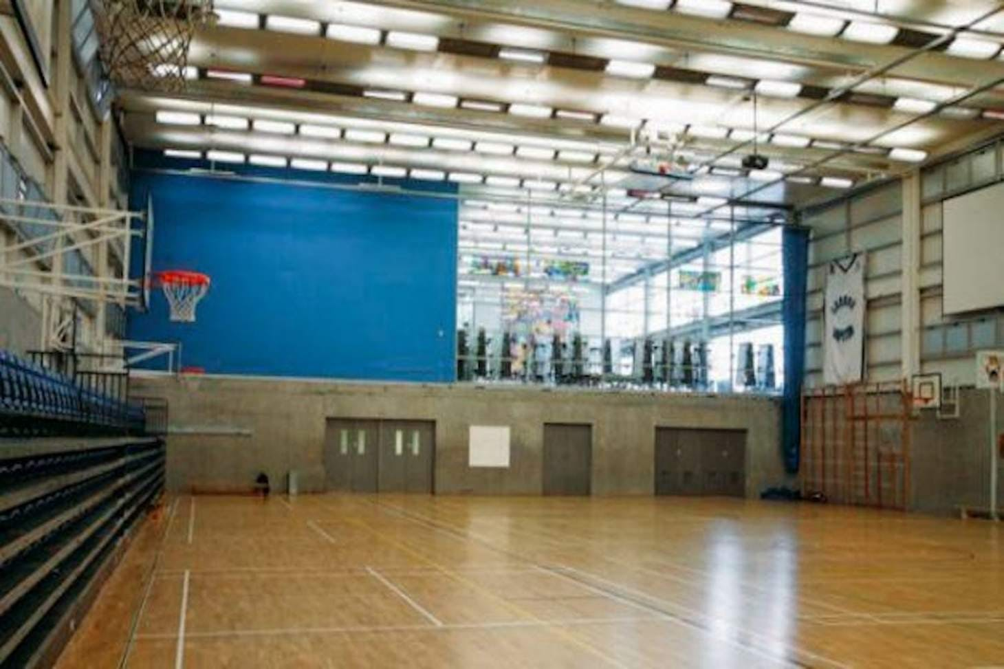 Capital City Academy Court   Sports hall volleyball court