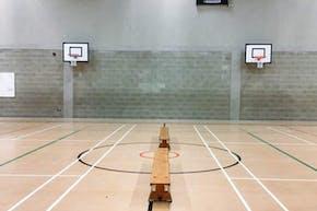 East Barnet School   Sports hall Basketball Court