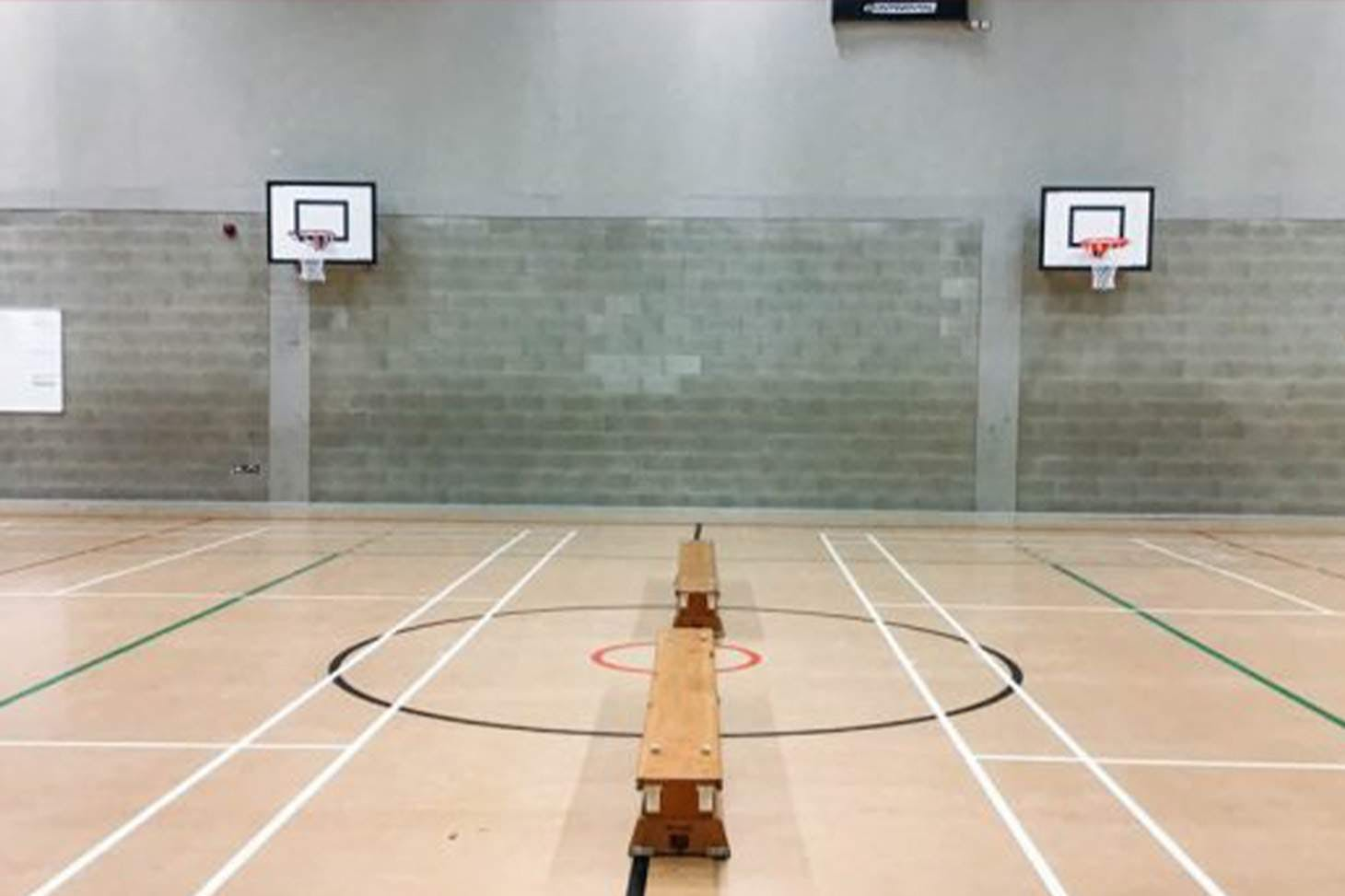 East Barnet School Court | Sports hall netball court