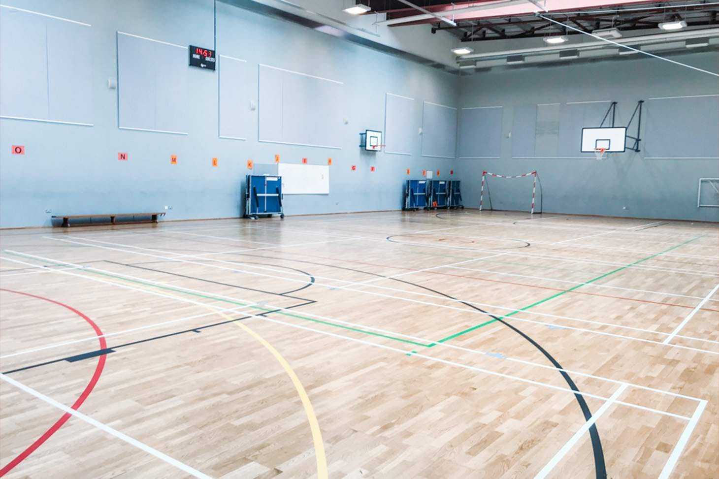 St Paul's Way Trust School Court | Sports hall badminton court