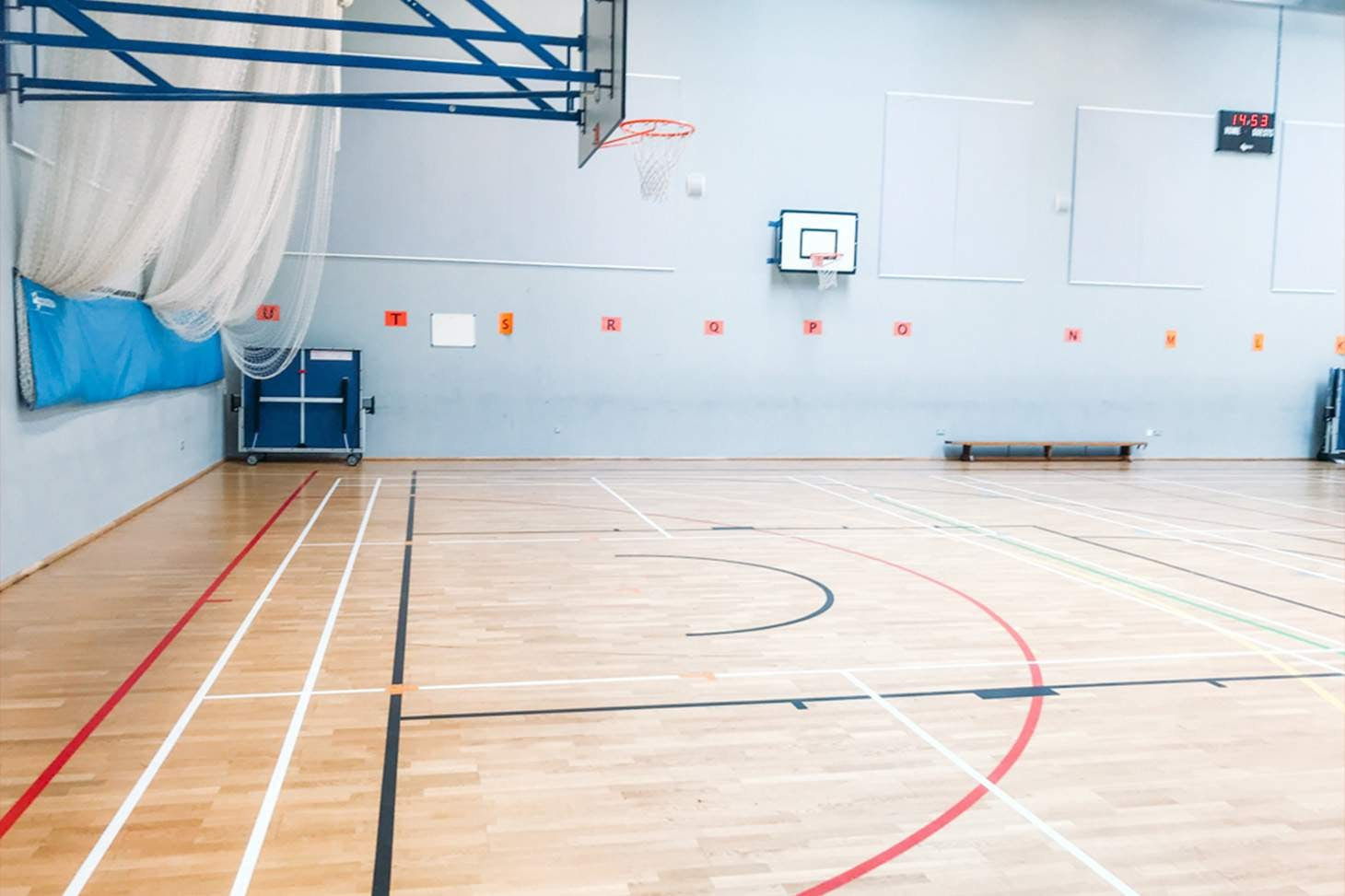 St Paul's Way Trust School Court | Sports hall volleyball court
