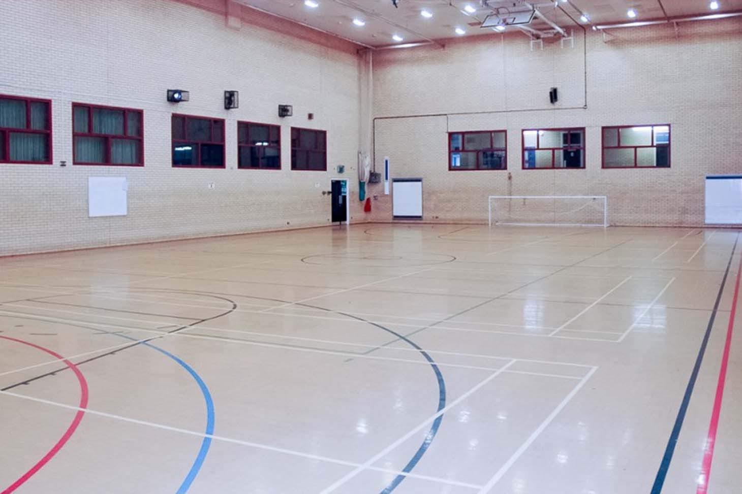 Moulton School & Science College Indoor badminton court