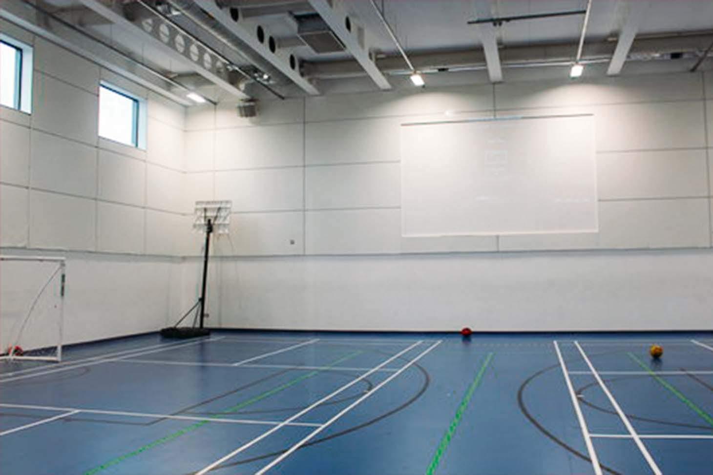 Sir Simon Milton Westminster UTC Indoor badminton court