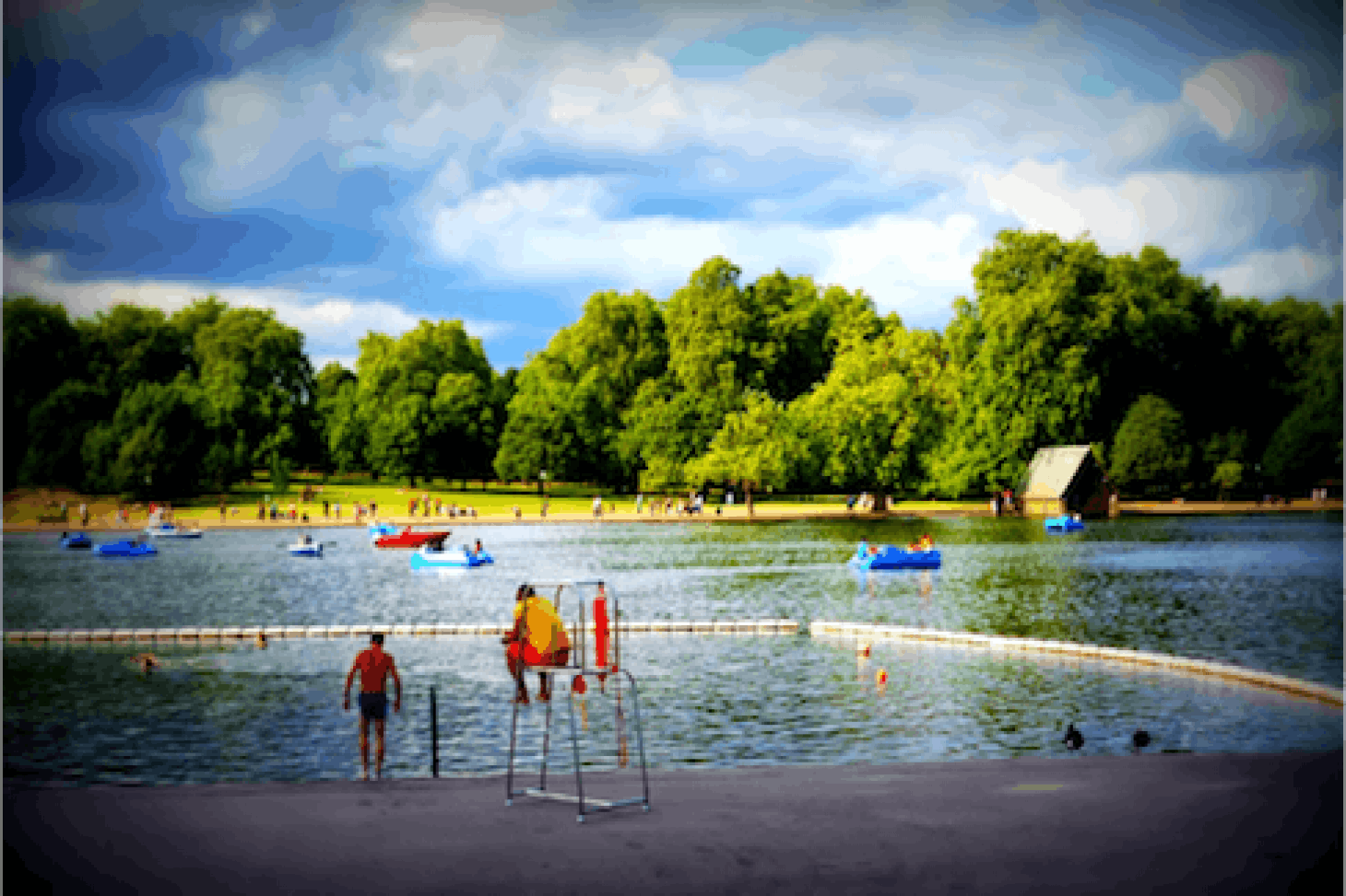 Serpentine Lido Outdoor swimming pool