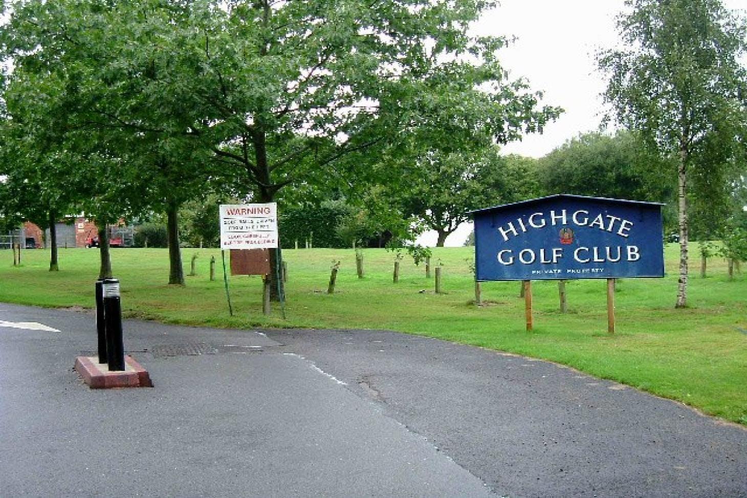 Highgate Golf Club 18 hole golf course