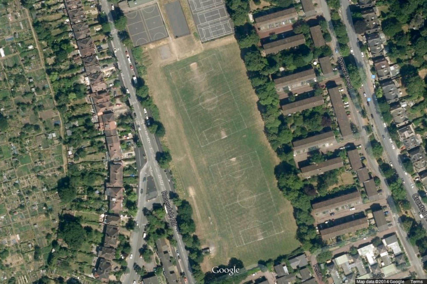 Rosendale Playing Fields 5 a side | Concrete football pitch