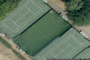 Elthorne Sports Centre | Concrete Tennis Court