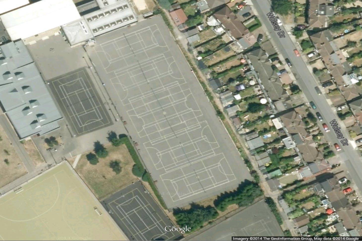 Tiffin Girls School Community Sports Centre Outdoor   Concrete tennis court