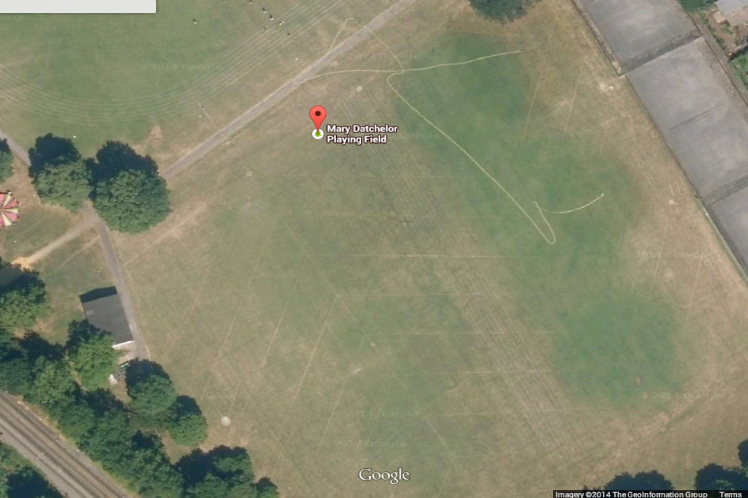 Mary Datchelor Playing Fields (Junior) Union rugby pitch