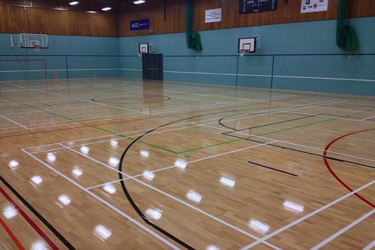 St Columba's College Indoor | Hard badminton court