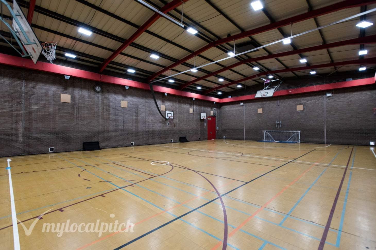 Chiswick School Indoor | Hard badminton court