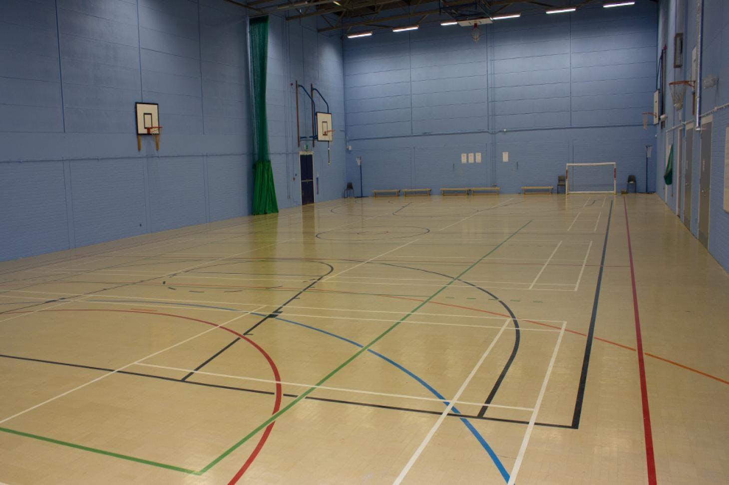 Ark John Keats Academy Indoor netball court