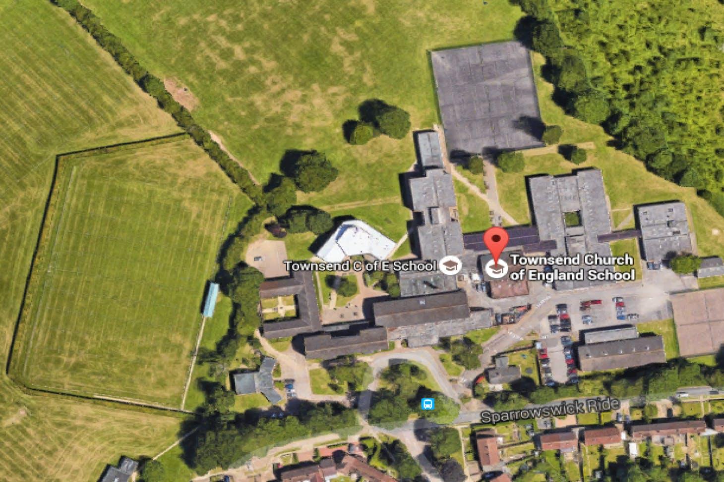 Townsend COE School 11 a side   Grass football pitch