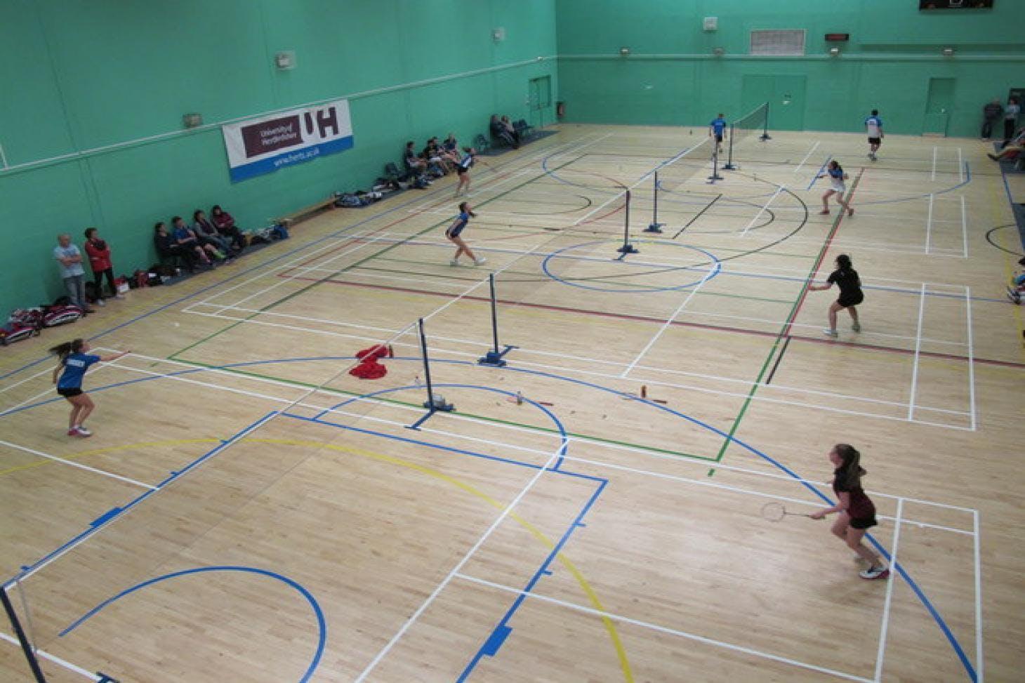 Hertfordshire Sports Village Indoor | Hard badminton court