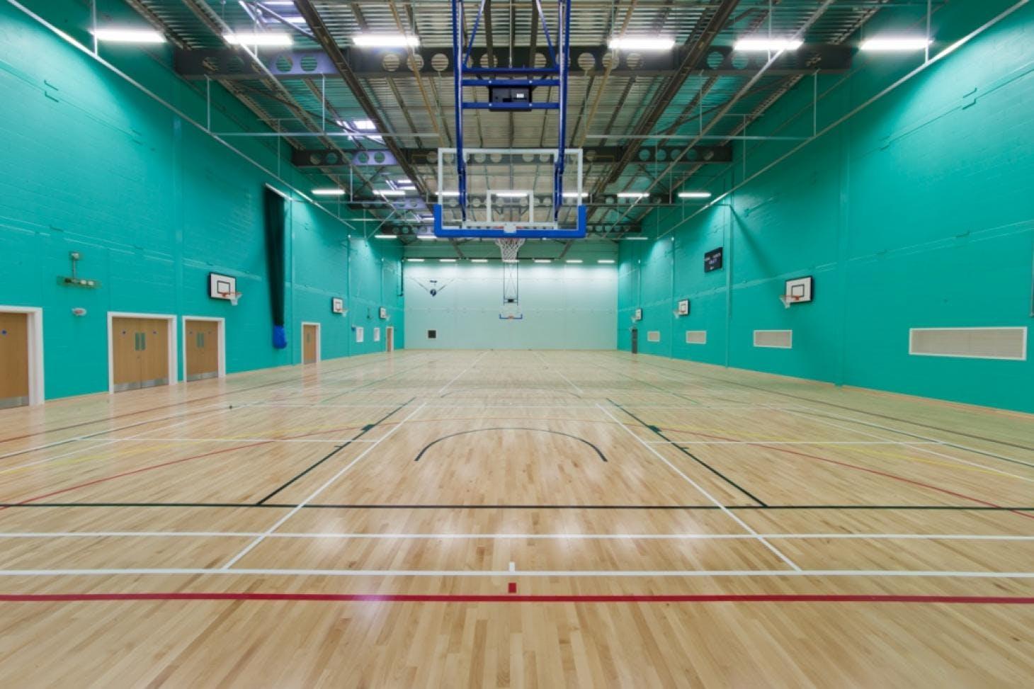 Sandringham School Indoor | Hard badminton court