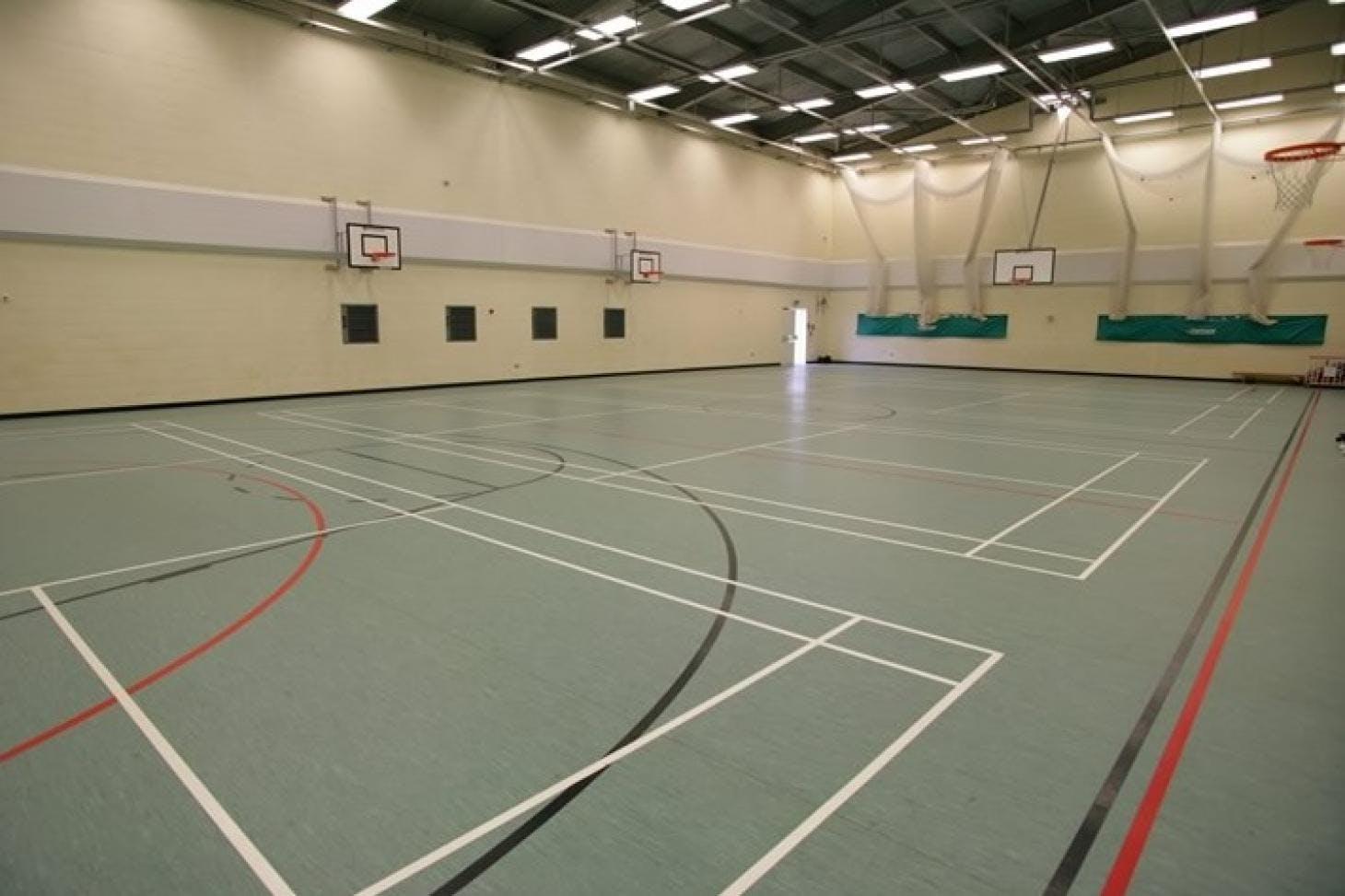 Denbigh High School Indoor | Hard badminton court