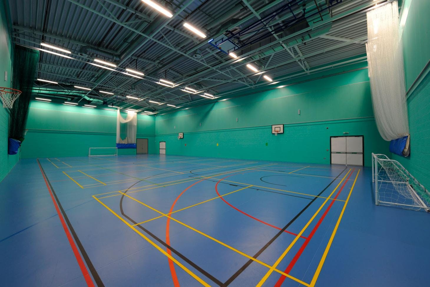 Challney High School for Girls Indoor | Hard badminton court