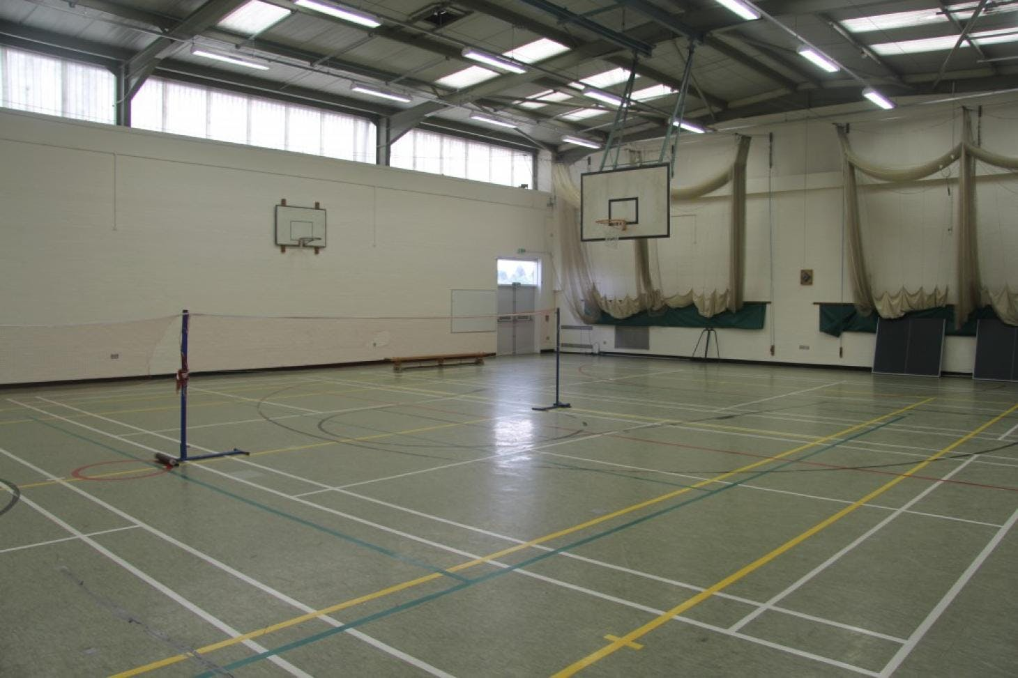 Ashcroft High School Indoor basketball court