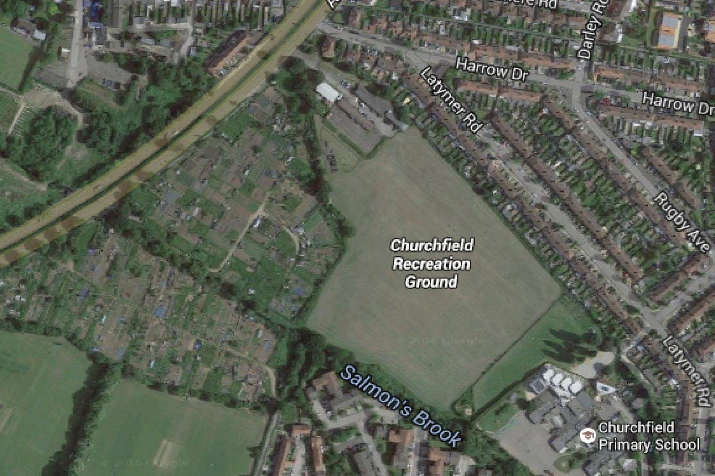 Churchfields Recreation Ground 11 a side | Grass football pitch