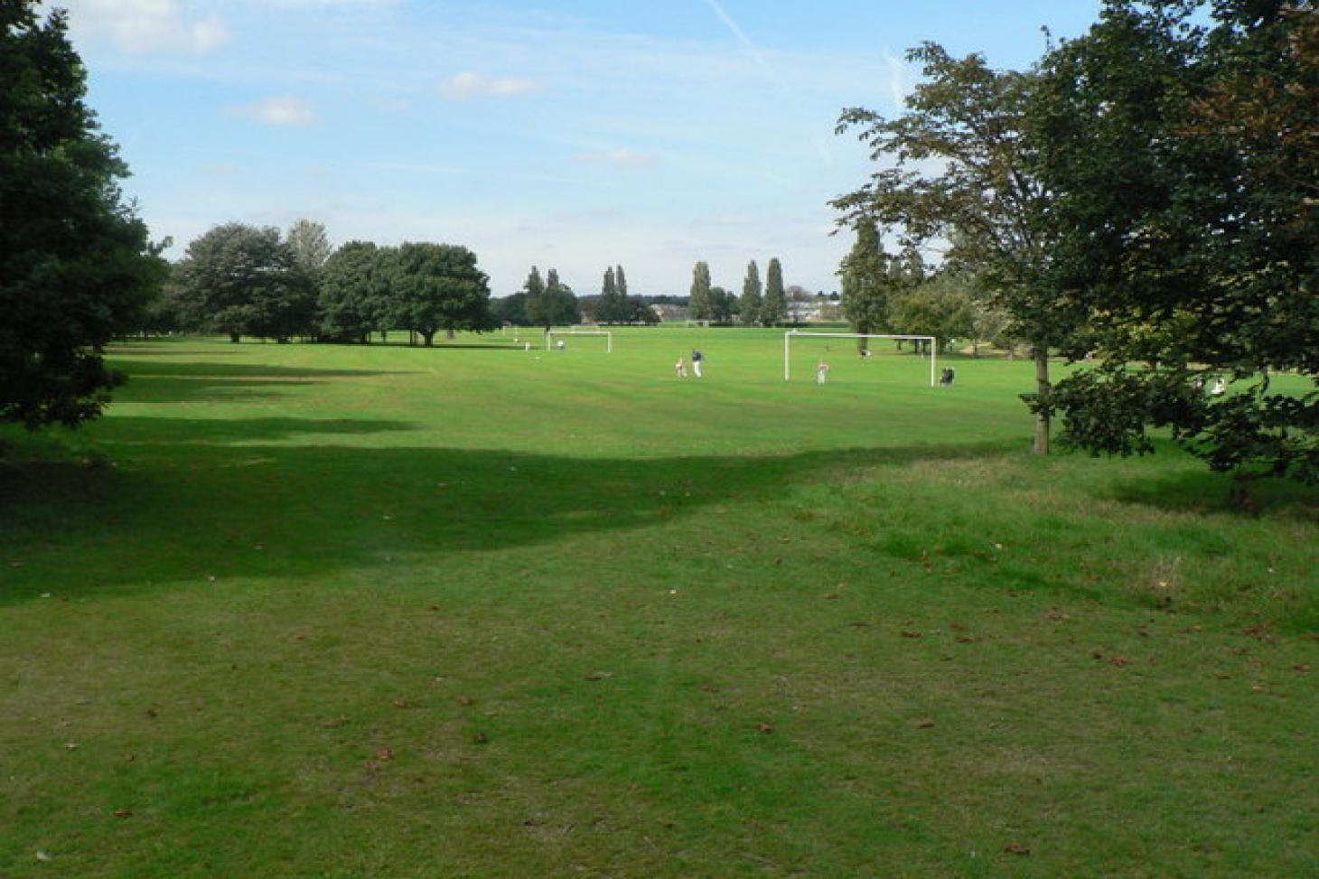 Danson Park 11 a side   Grass football pitch