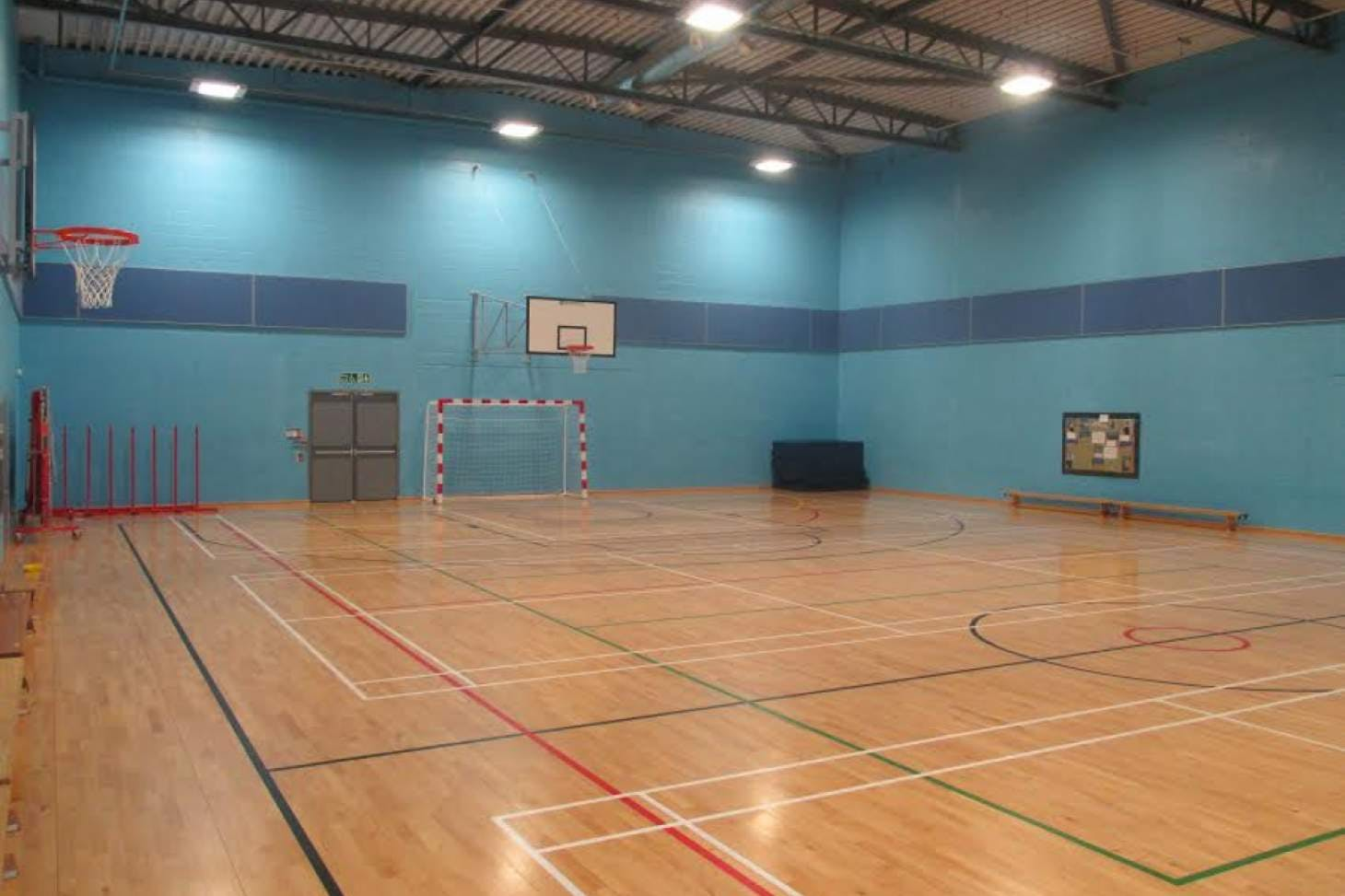 Prendergast Vale School Indoor futsal pitch