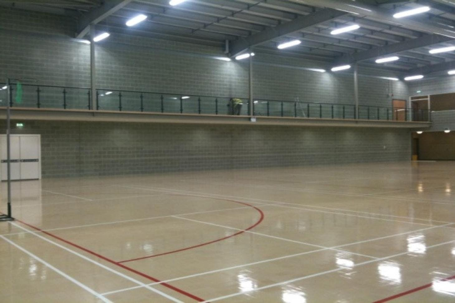 Dartford Grammar School for Girls Indoor | Hard badminton court