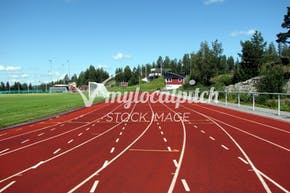 Ashton Playing Fields | Synthetic rubber Athletics Track