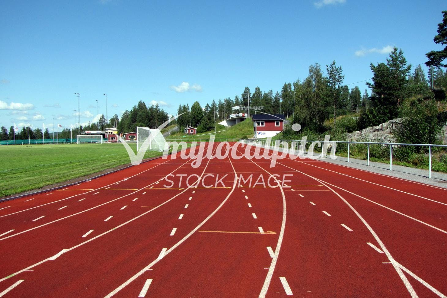 Drayton Green Running Track Outdoor | Grass athletics track