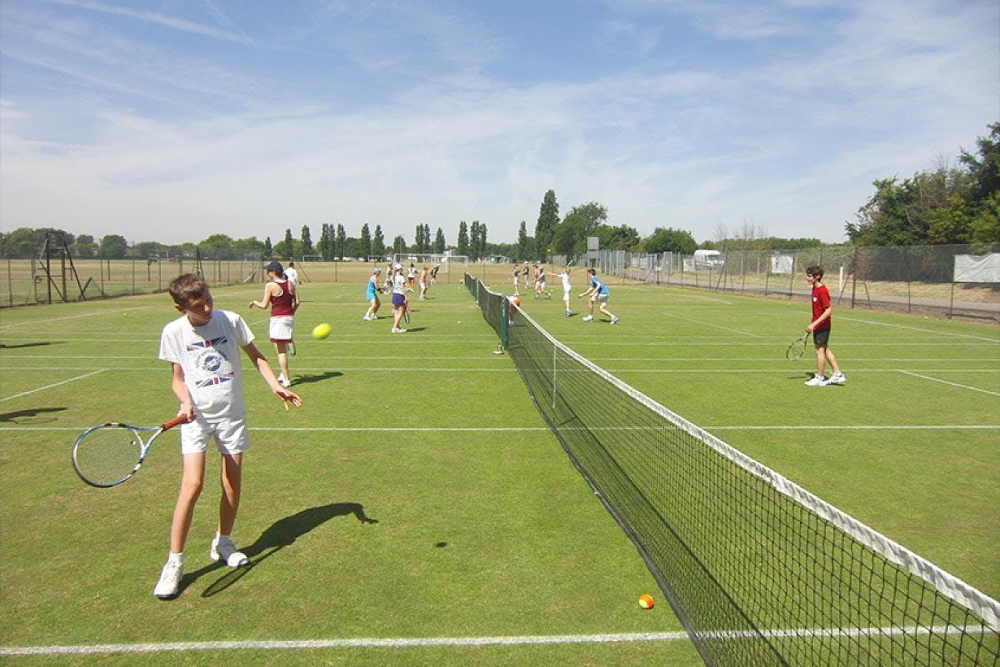 Old Deer Park Outdoor | Grass tennis court