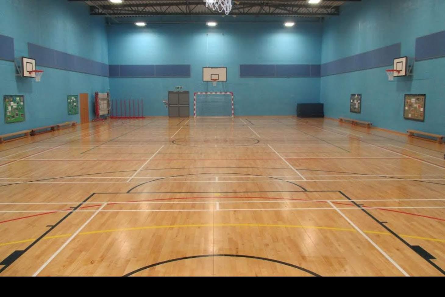 Prendergast Vale School Indoor basketball court