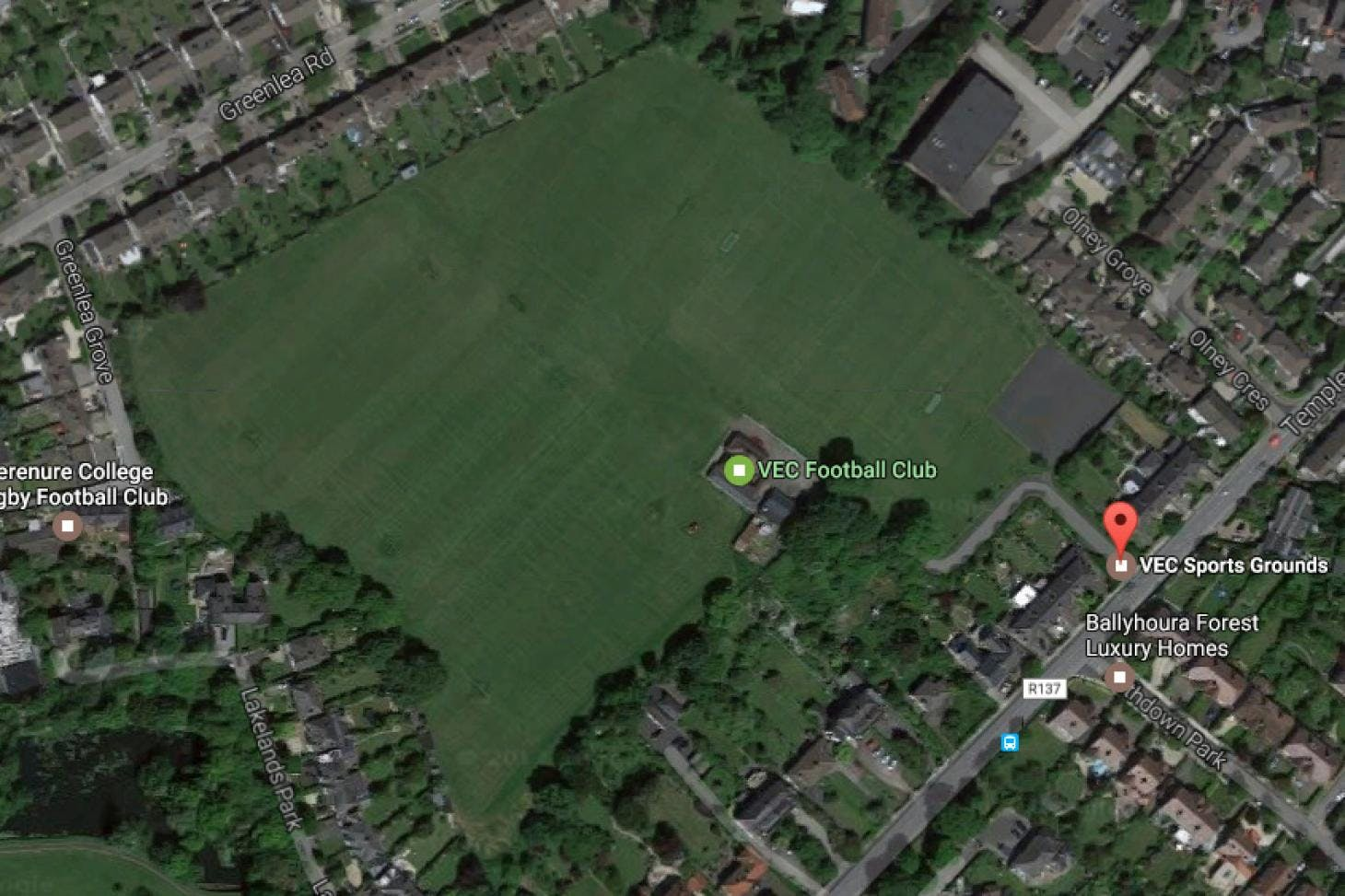 VEC Sports Grounds 11 a side | Grass football pitch