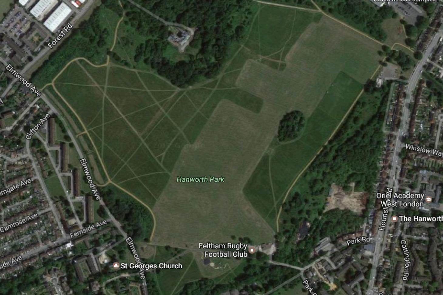 Hanworth Park Union rugby pitch