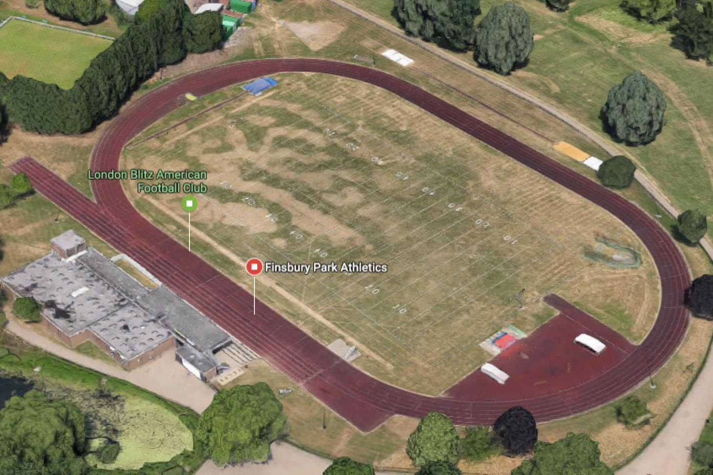 Finsbury Park Outdoor | Hard (macadam) athletics track