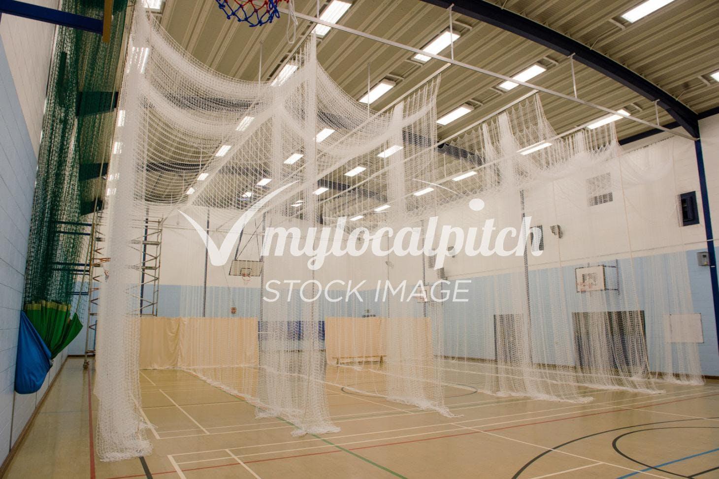 Challney High School for Boys Nets   Sports hall cricket facilities