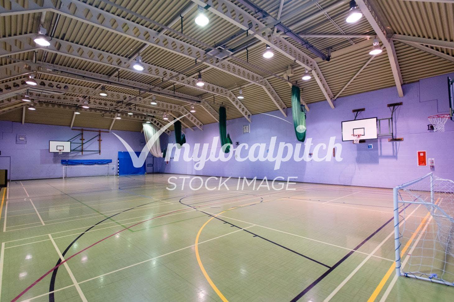 Barking Abbey School Indoor netball court