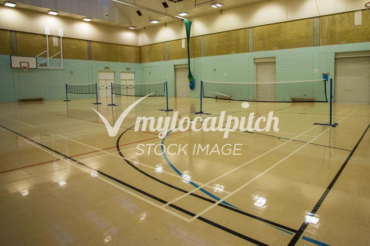 Bishop Justus C of E School Indoor   Hard badminton court