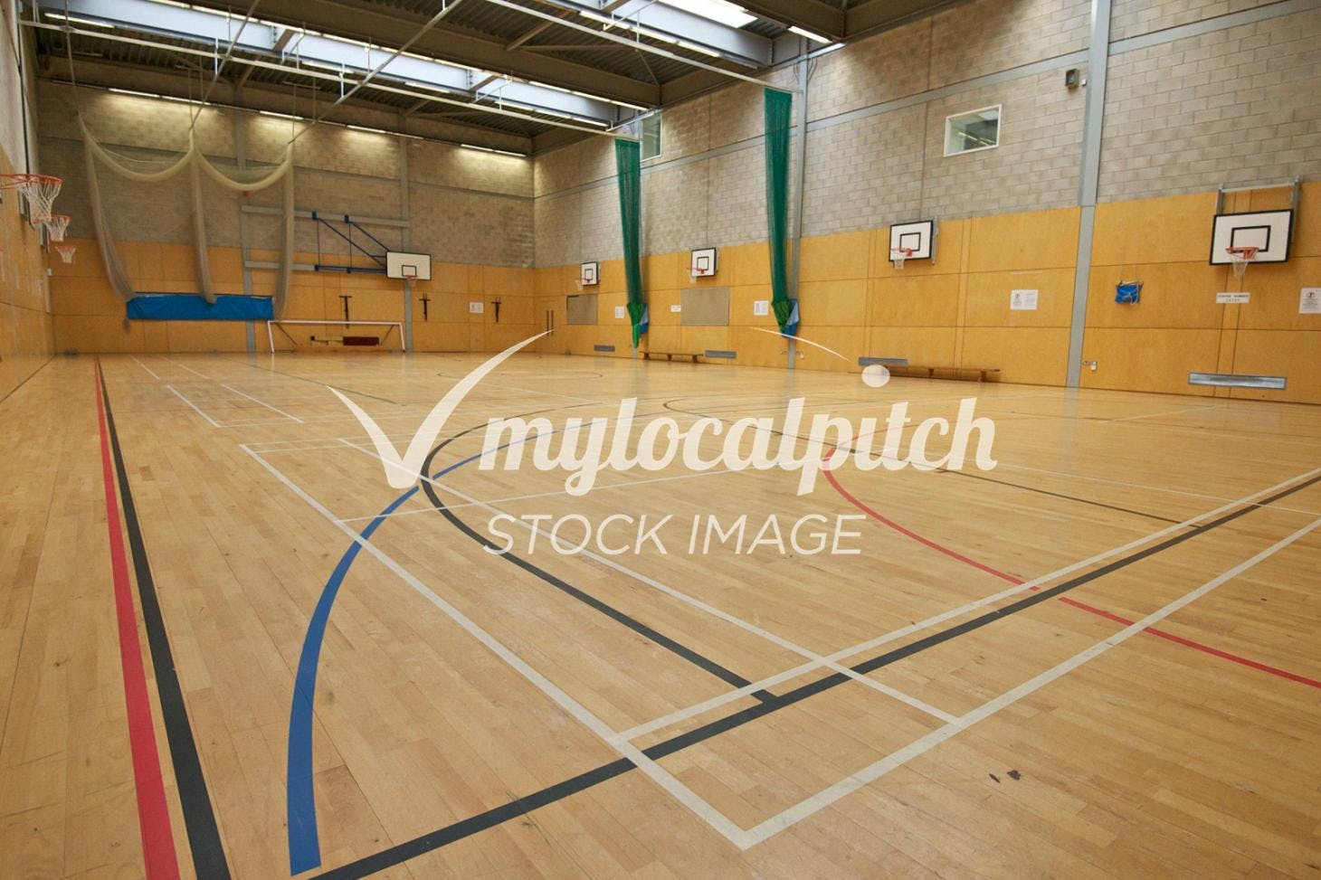 University of Salford Sports Centre Indoor basketball court