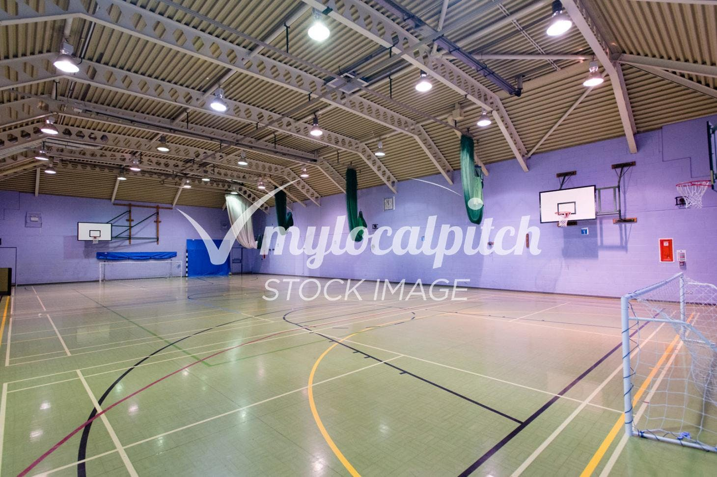 University of Salford Sports Centre Indoor netball court