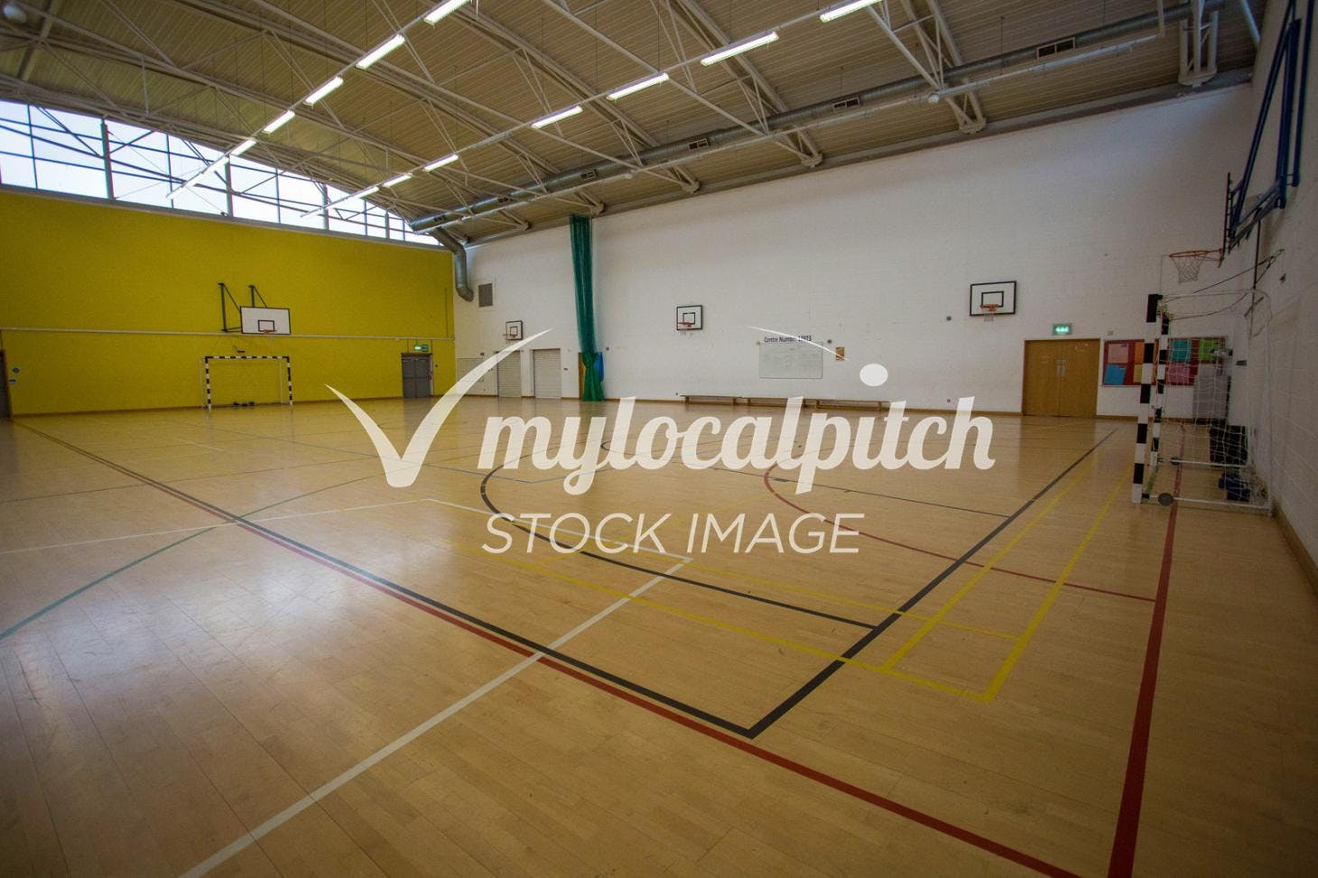 University of Salford Sports Centre Indoor futsal pitch
