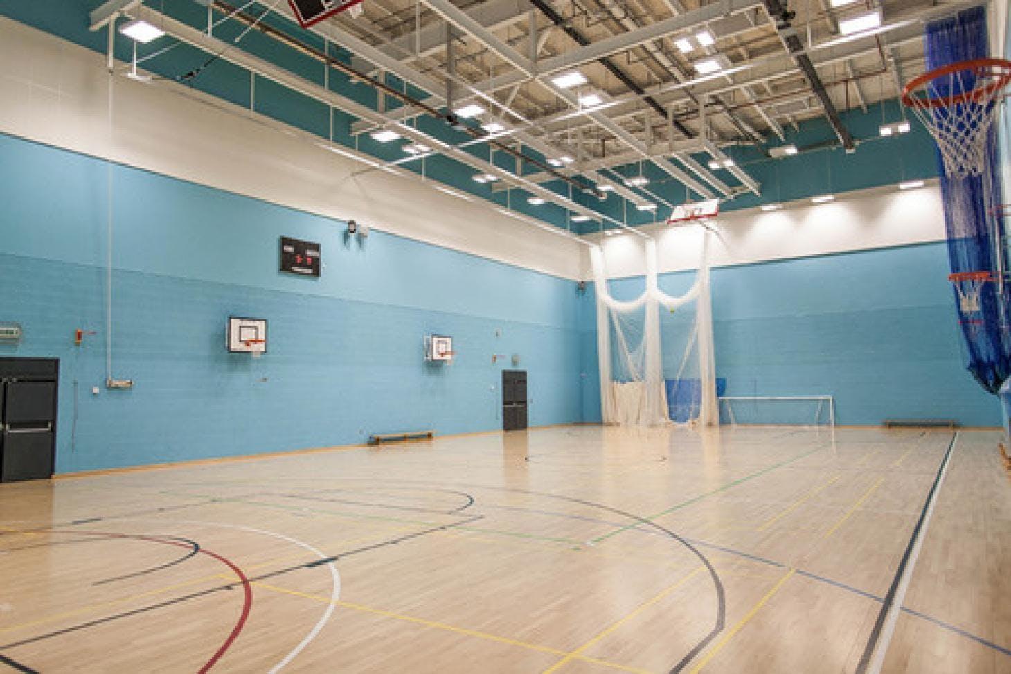 Droylsden Academy Indoor netball court