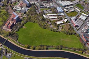 University of Salford Sports Centre   Grass Football Pitch
