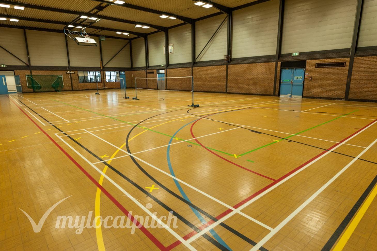 Clarendon Leisure Centre Indoor netball court