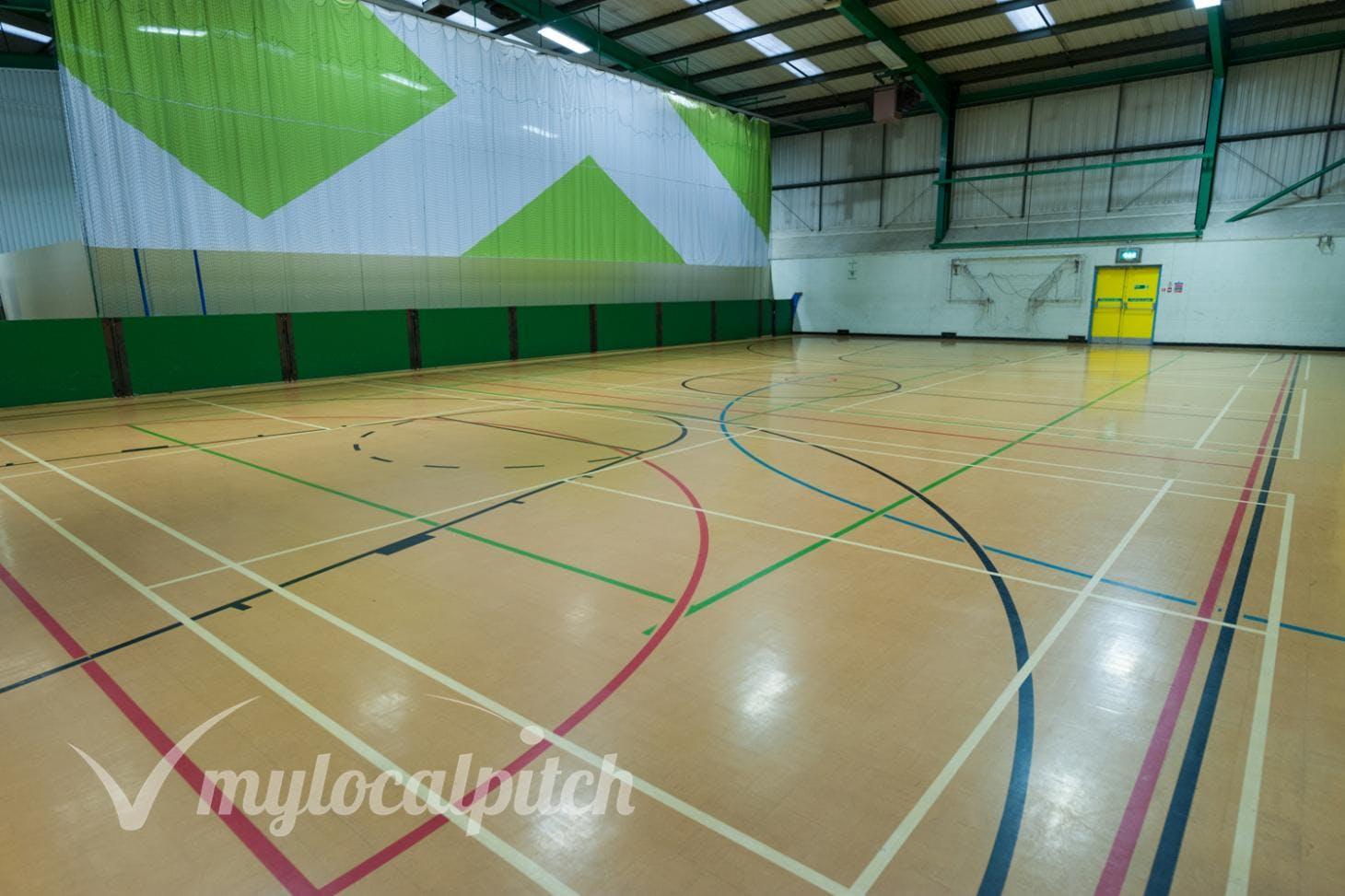 Eccles Leisure Centre Indoor netball court