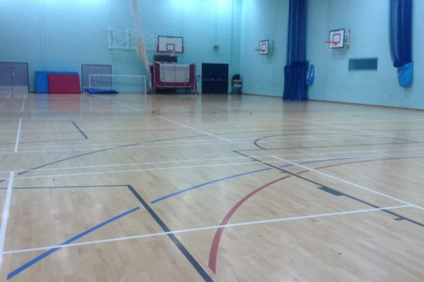 St John's Catholic Comprehensive School Indoor | Hard badminton court