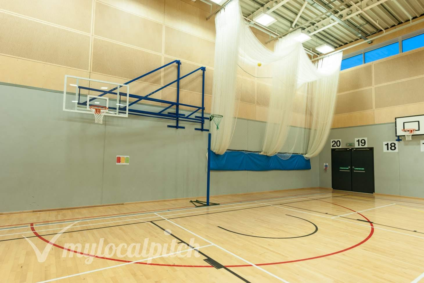 Irlam and Cadishead College Indoor basketball court
